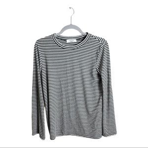 Carly Jean Los Angeles Striped Bell Sleeve Top